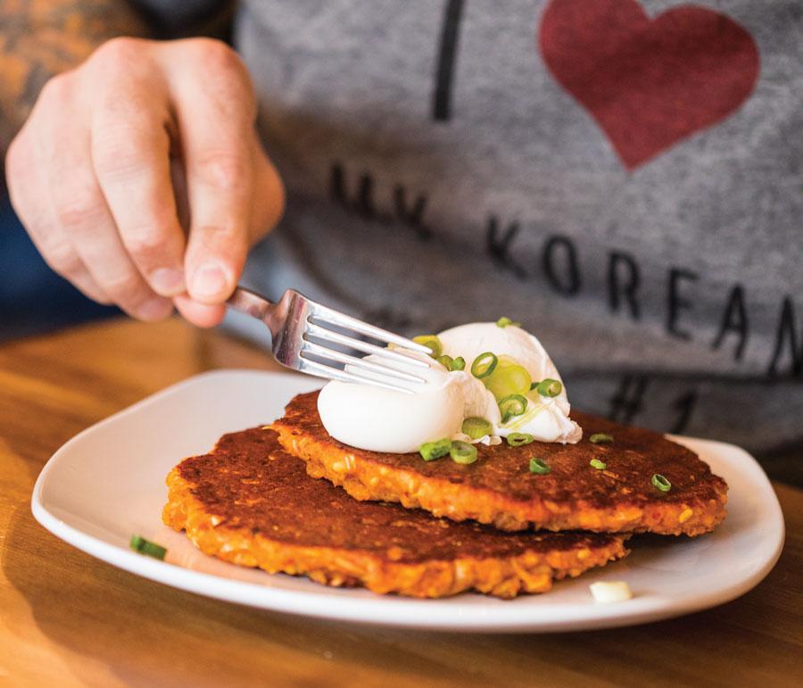 Korean pancakes at Cook St. Paul.