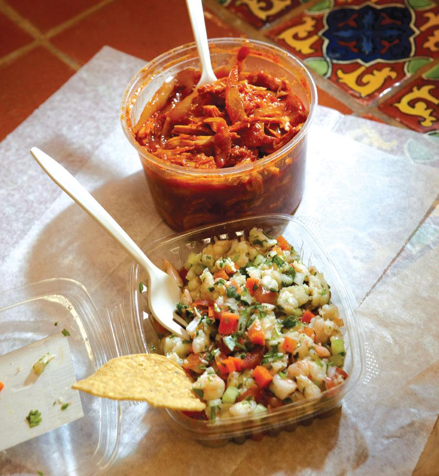 Food offerings at El Burrito Mercado in St. Paul, Minnesota.