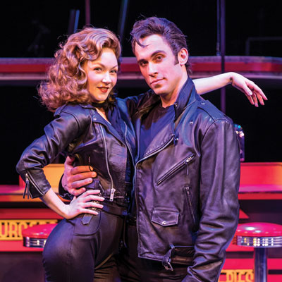 Danny and Sandy from Chanhassen Dinner Theatre's production of Grease.