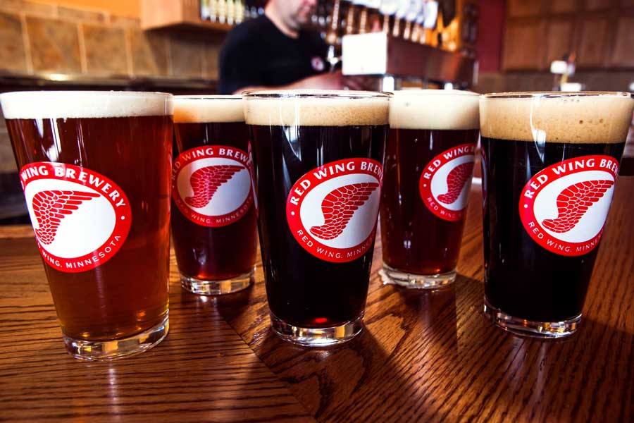 Beer from Red Wing Brewery