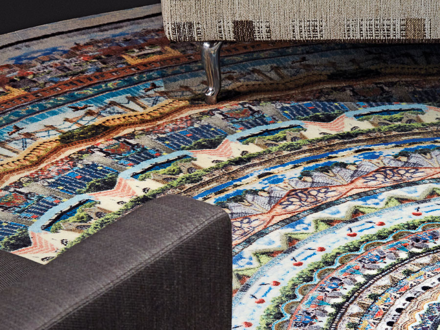 A rug by Neal Peterson at Mooi Carpets.