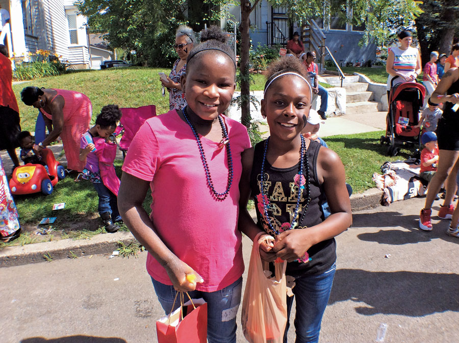 Two young girls celebrating Rondo Days.
