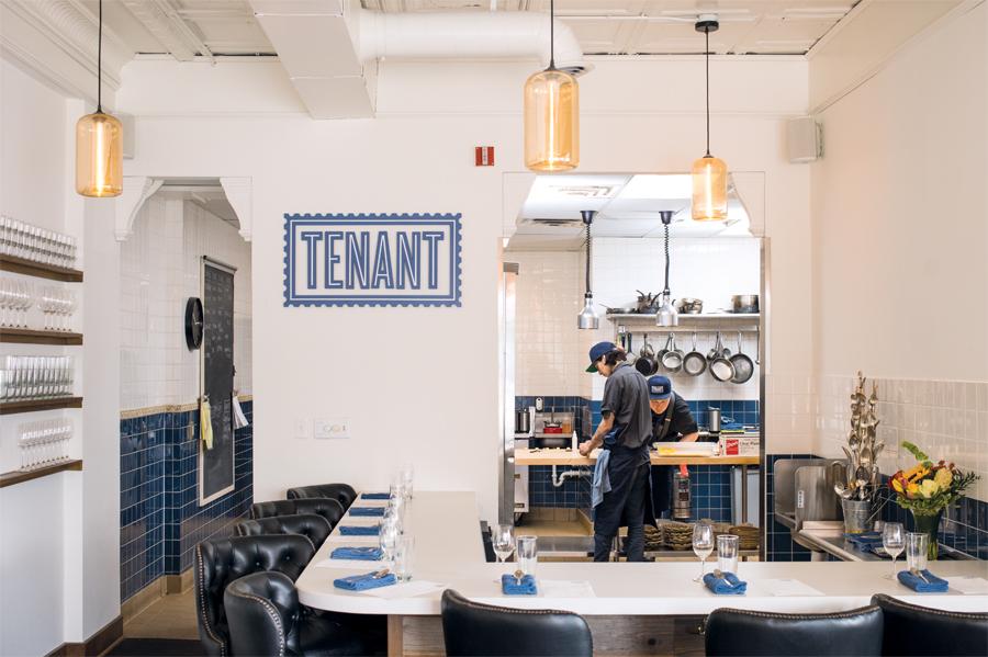 The interior of Tenant in Minneapolis, Minnesota.