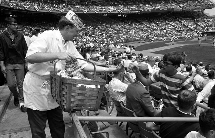Vendor at Met Stadium in Bloomington, Minnesota