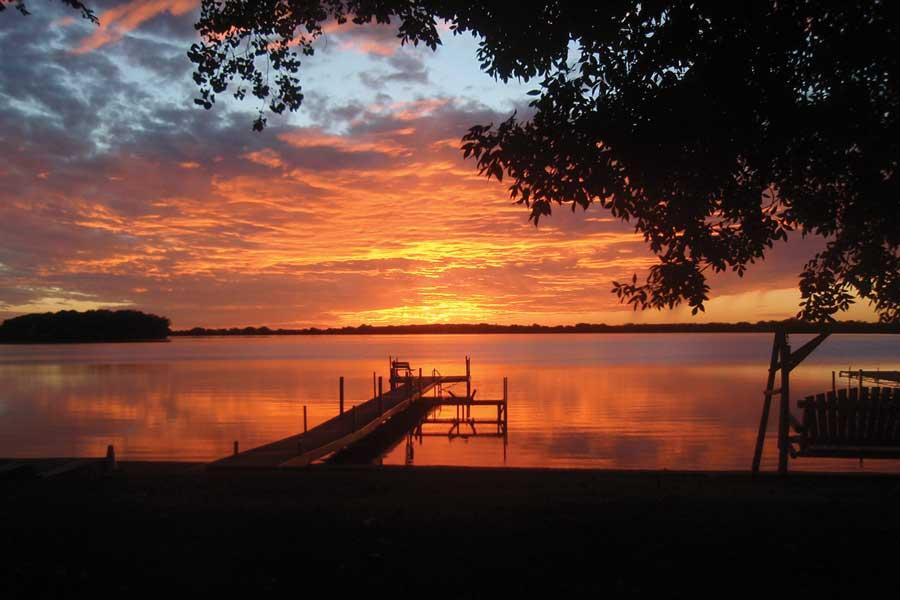 Views from Dickerson's Lake Florida Resort.