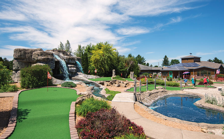 LARK's mini-golf course.