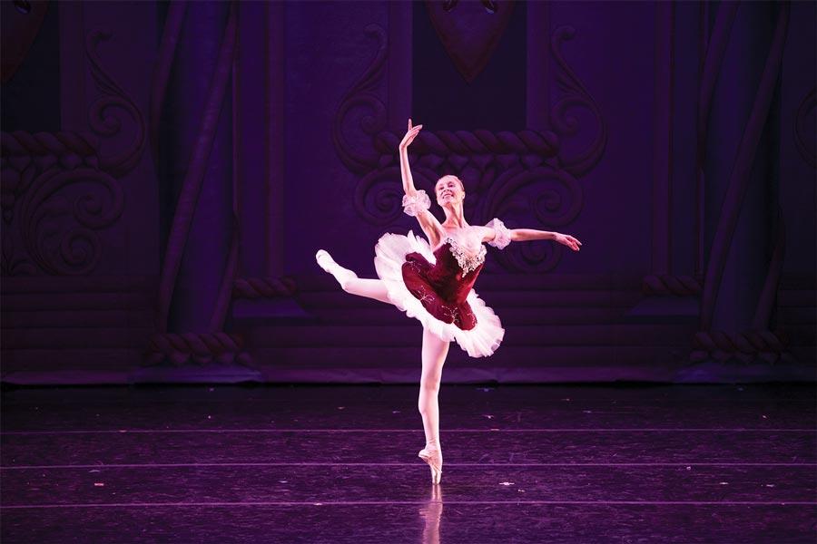 A ballerina performing the Nutcracker.