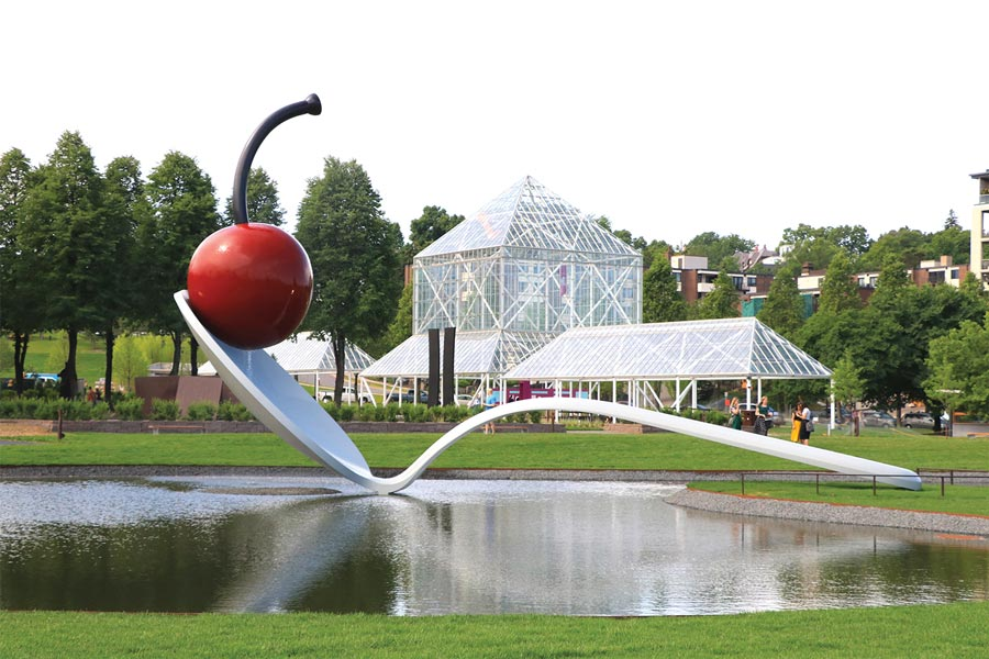 Spoonbridge and Cherry at the Walker Art Center in Minneapolis,