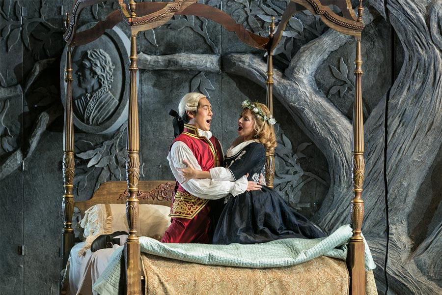 A scene from the Marriage of Figaro.