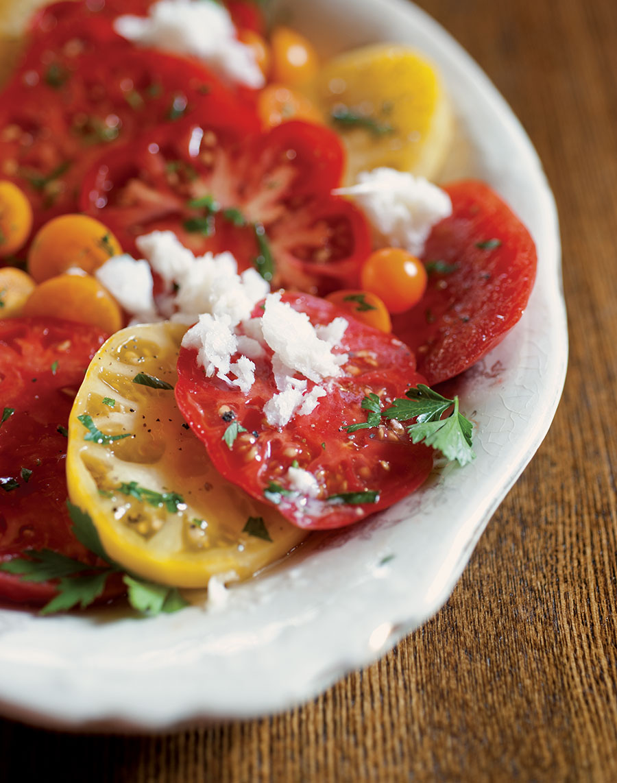 Tomato Carpaccio with Horseradish Ice