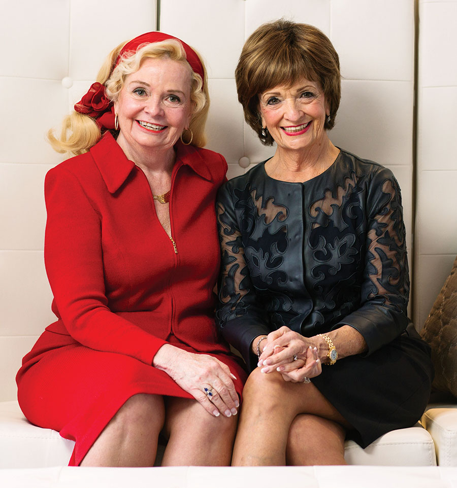 Marilyn Carlson Nelson (right) with her sister, Barbara Carlson Gage.