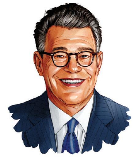 An illustration of a portrait of Al Franken.
