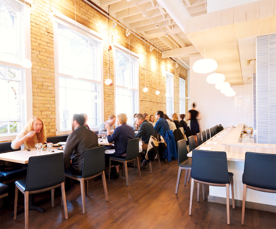 The dining room at Kado No Mise.
