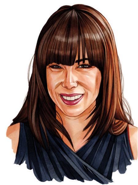 An illustrated portrait of Sarah Hicks.