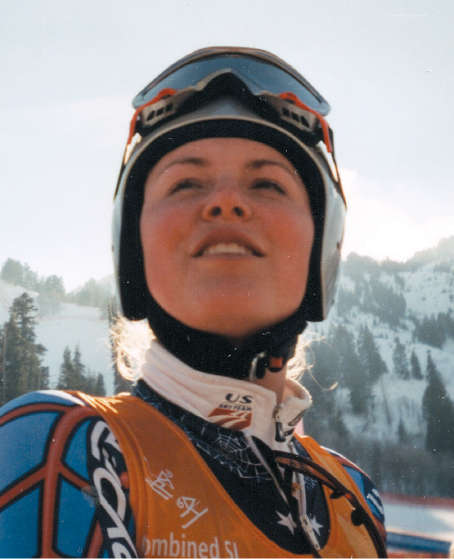 Lindsey Vonn at the 2002 Olympics.