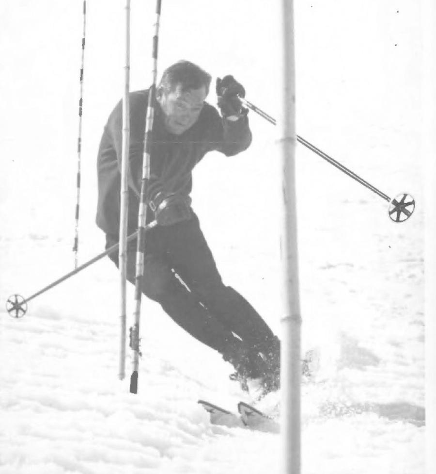 Eric Sailer slaloming at Red Lodge in 1967.