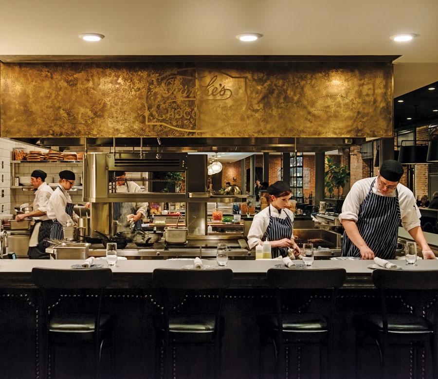 Charmant restaurant's kitchen.