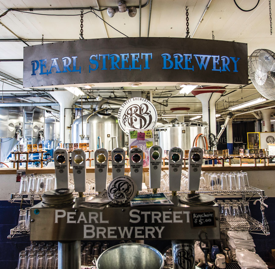 Pearl Street Brewery taps.
