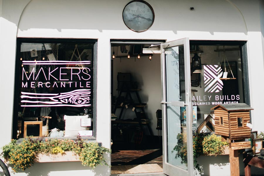 The storefront of the Duluth Maker's Mercantile.