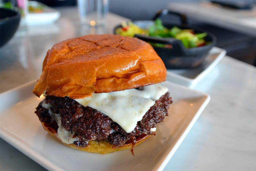 A burger from Parlour in Minneapolis.