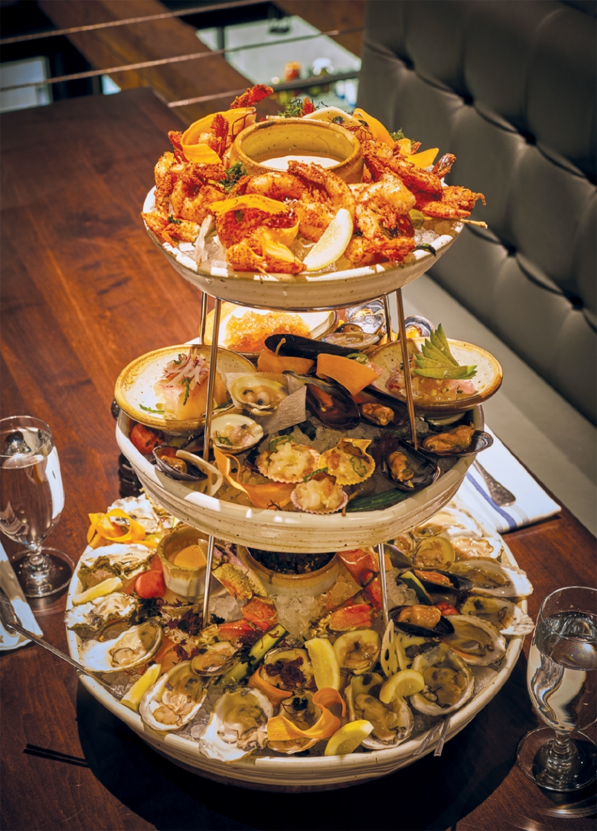 Seafood tower at Octo Fishbar.