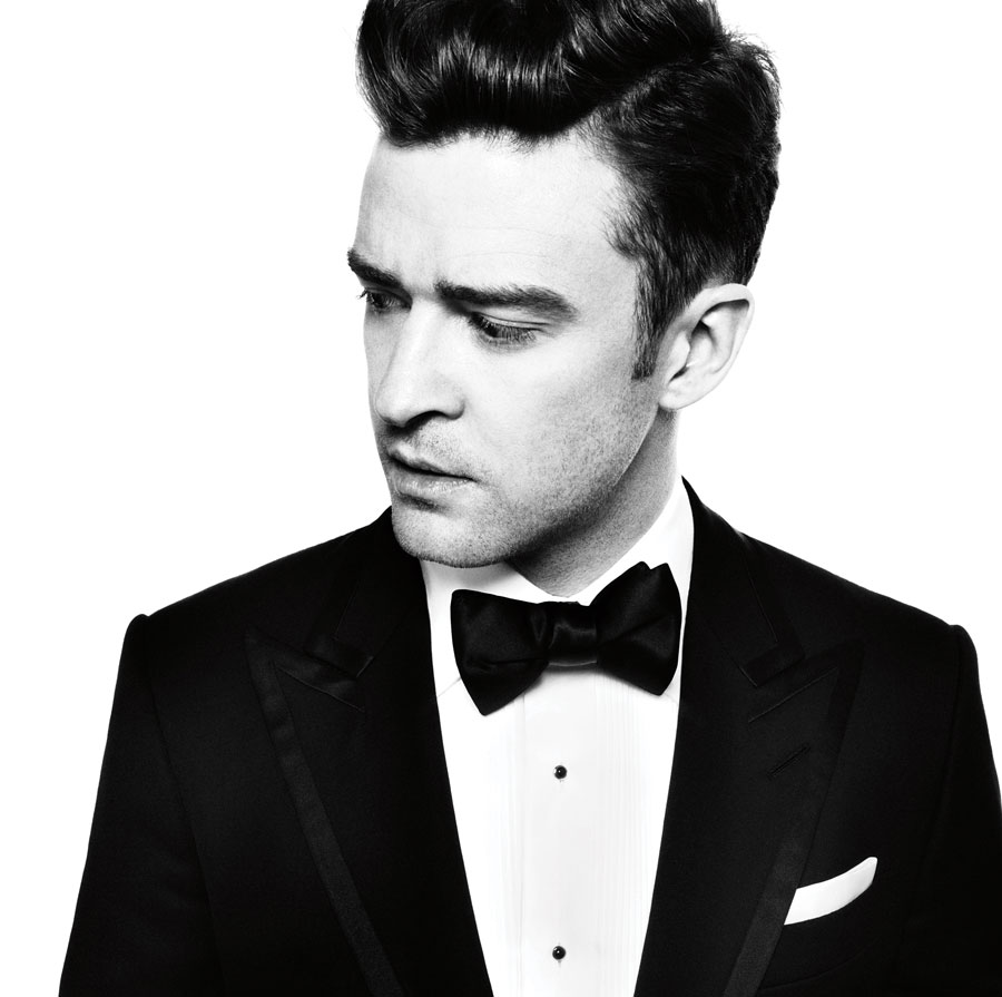 A portrait of Justin Timberlake wearing a suit.