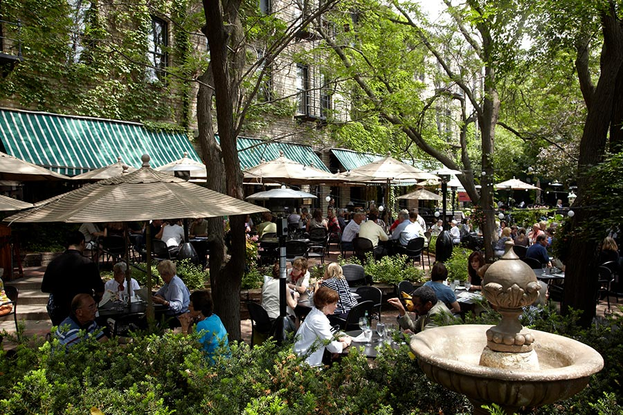 The patio at W.A. Frost in St. Paul, Minnesota.