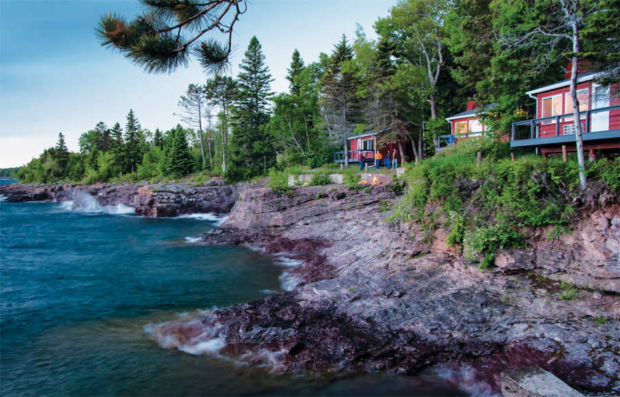 Resort cabins at Breezy Point on Lake Superior.