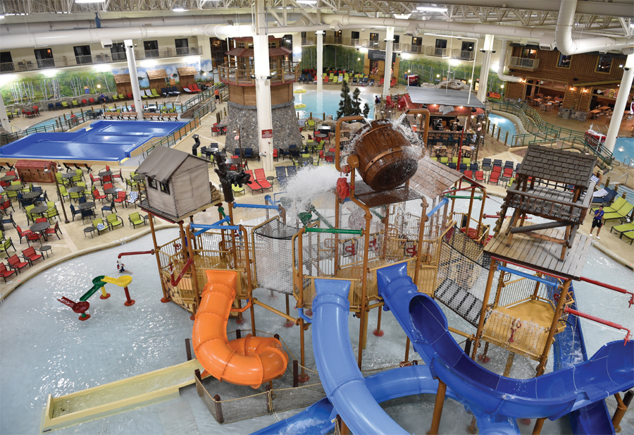 The waterpark at Great Wolf Lodge in Bloomington, Minnesota.