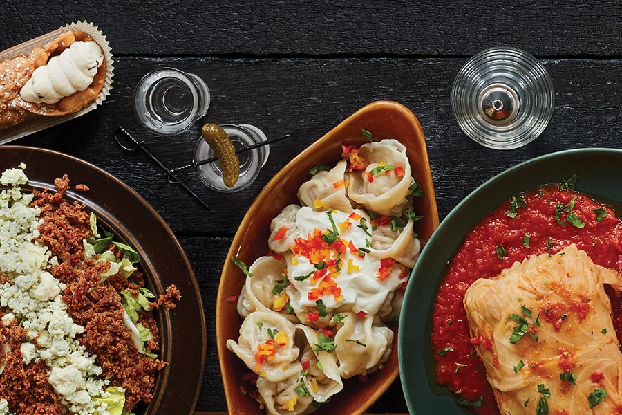 A table full of dishes from around the world.
