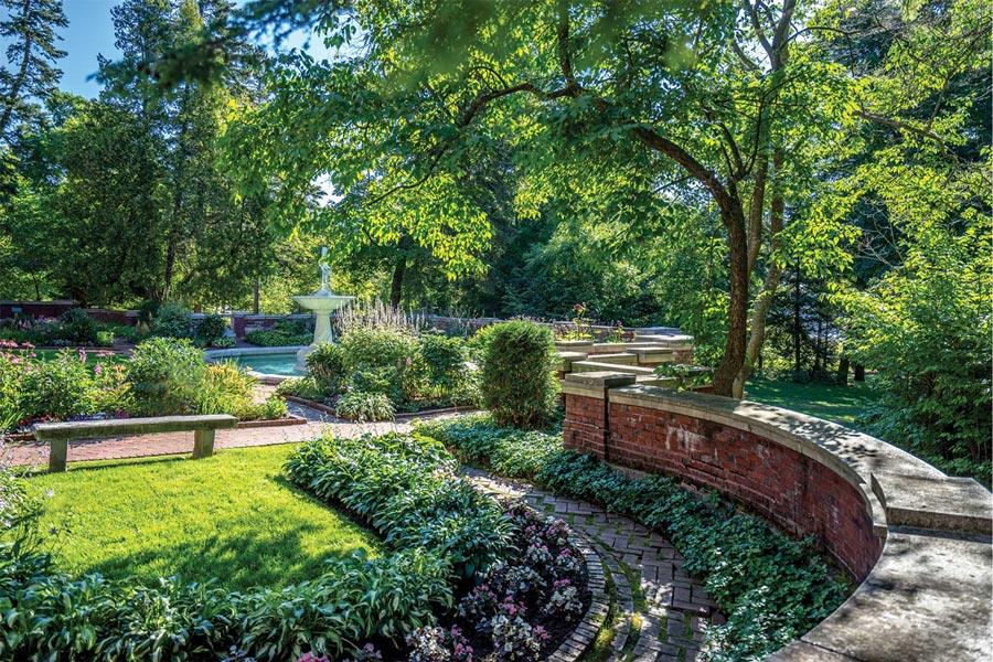 The gardens at Glensheen Mansion in Duluth, Minnesota.