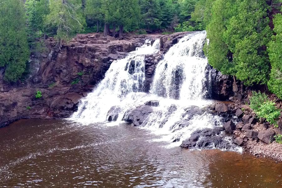 The falls at Gooseberry Falls in Minnesota.