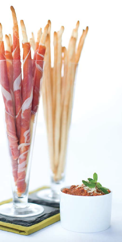 Prosciutto wrapped grissini by Terry Brennan (food styling Lara Miklasevices)