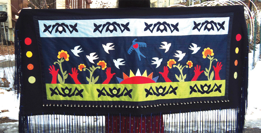 Native American shawl art.