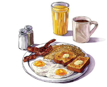 """An illustration of America's Favorite All-Day Meal at Mickey's """"By Willy"""" in St. Paul."""