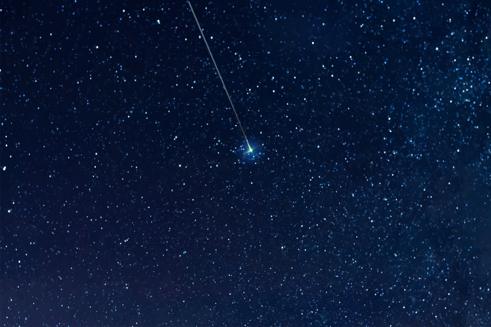 A starry night sky with a single meteor or shooting star streaking across it. Photo by 123levit-Fotolia.