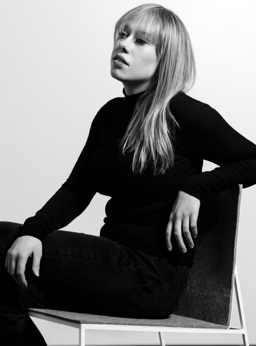 A black and white portrait of Lydia Liza.