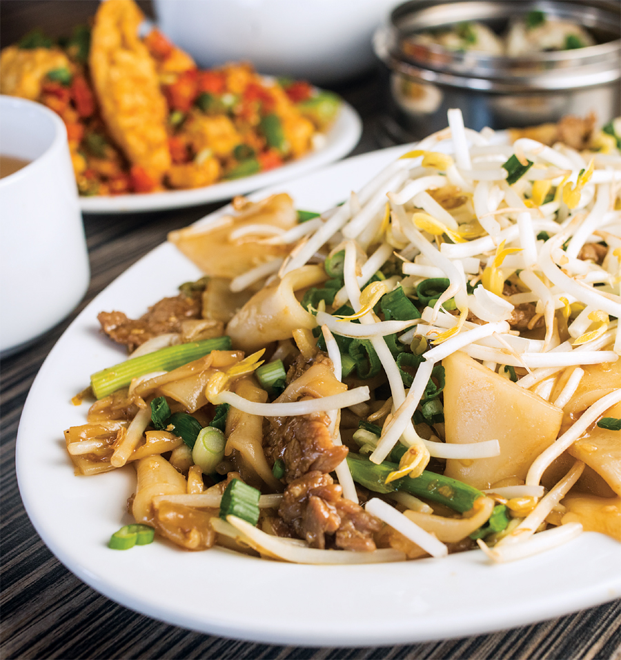 Stir Fried Beef Chow Fun Noodles at Tapestry Restaurant.