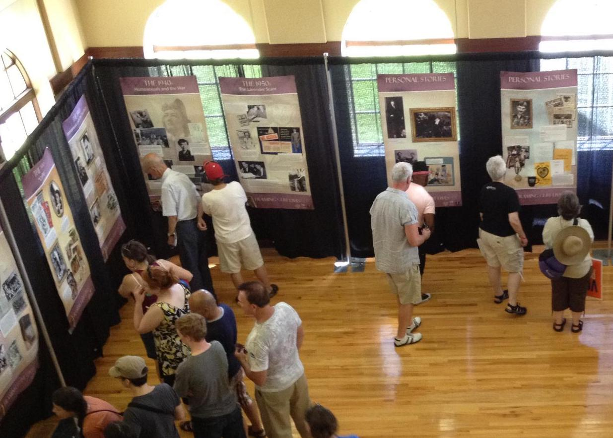 A view of the History Pavilion at Pride Twin Cities a few years ago. Photo courtesy Lisa Vecoli.