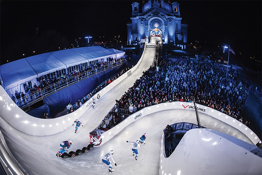 Red Bull's Crashed Ice in downtown St. Paul, Minnesota.