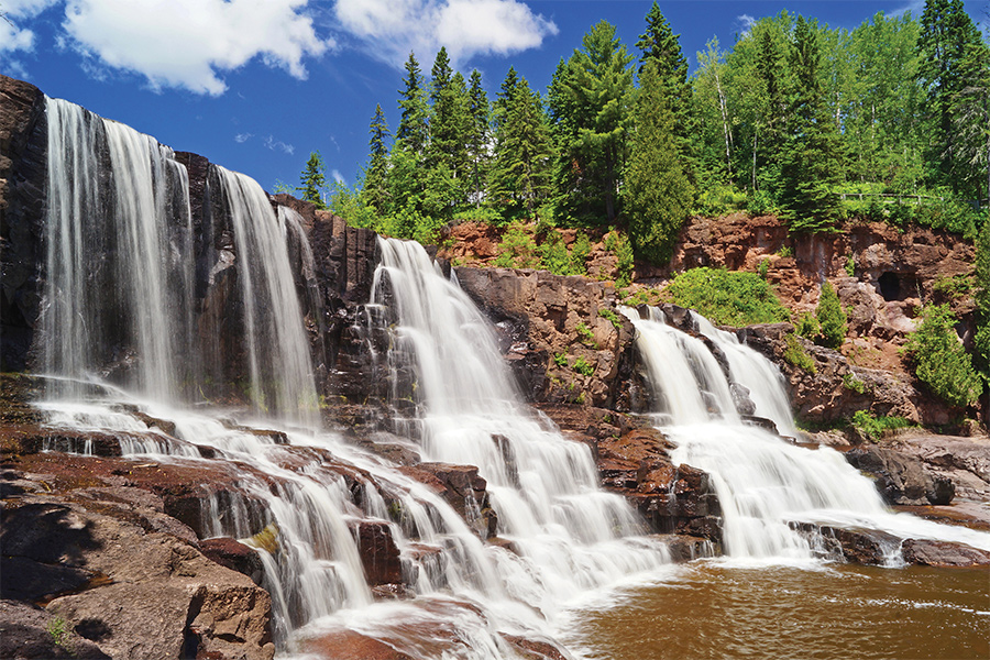 The lower falls at Gooseberry Falls.