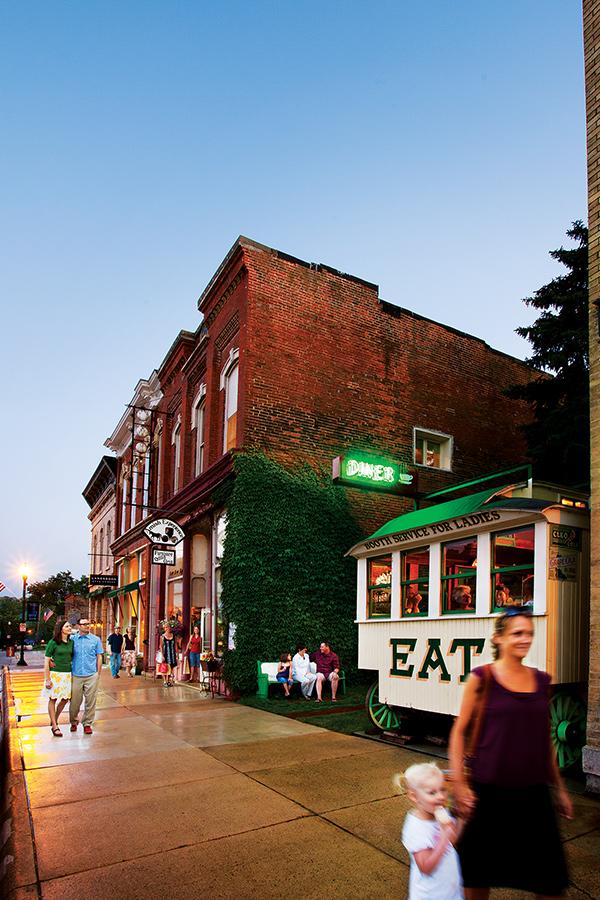 The shops of downtown Lanesboro, Minnesota.