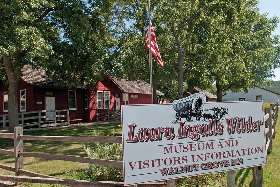 The exterior of the Laura Ingalls Wilder Museum.