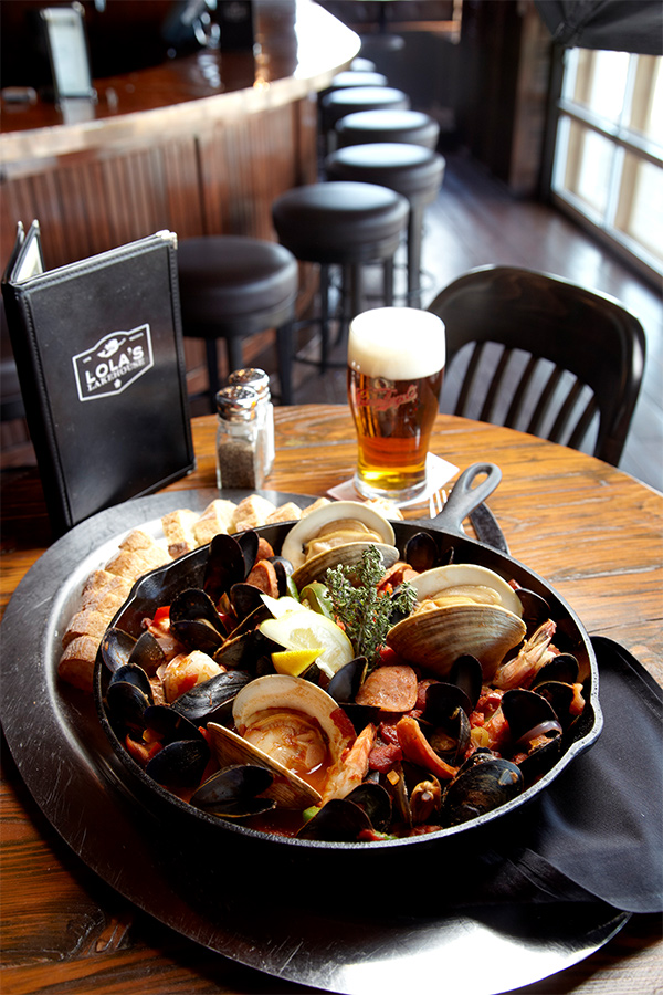 A seafood platter at Lola's Lakehouse in Waconia, Minnesota.