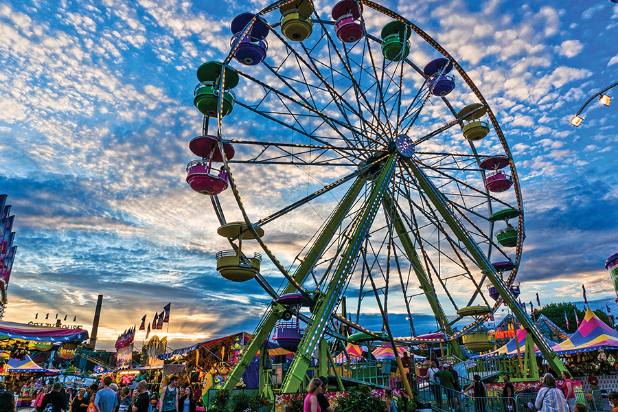 The Ferris wheel at the Minnesota State Fair.