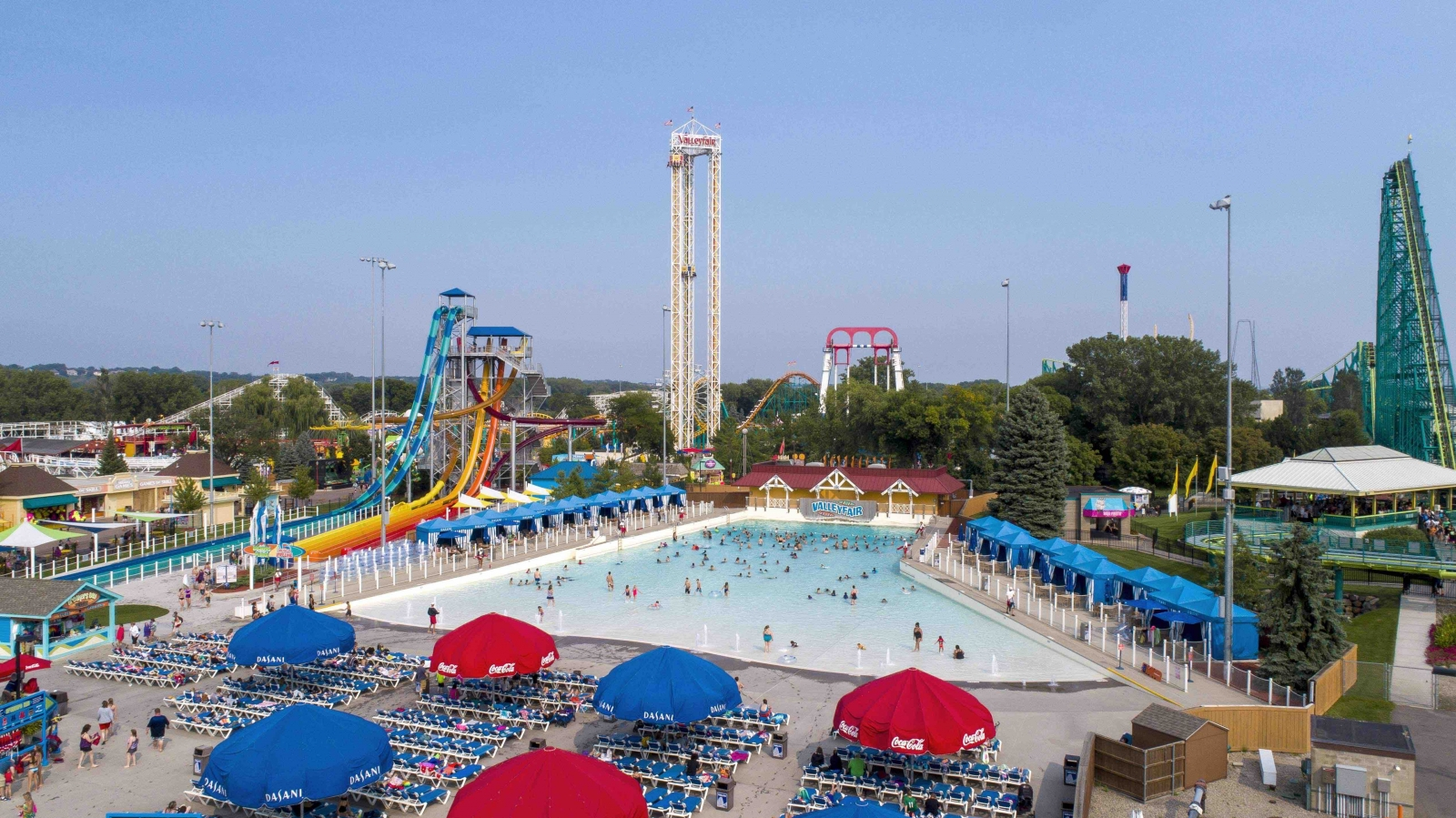The six-foot wave pool at Valleyfair's Soak City is always populated in the summer. Courtesy Valleyfair.