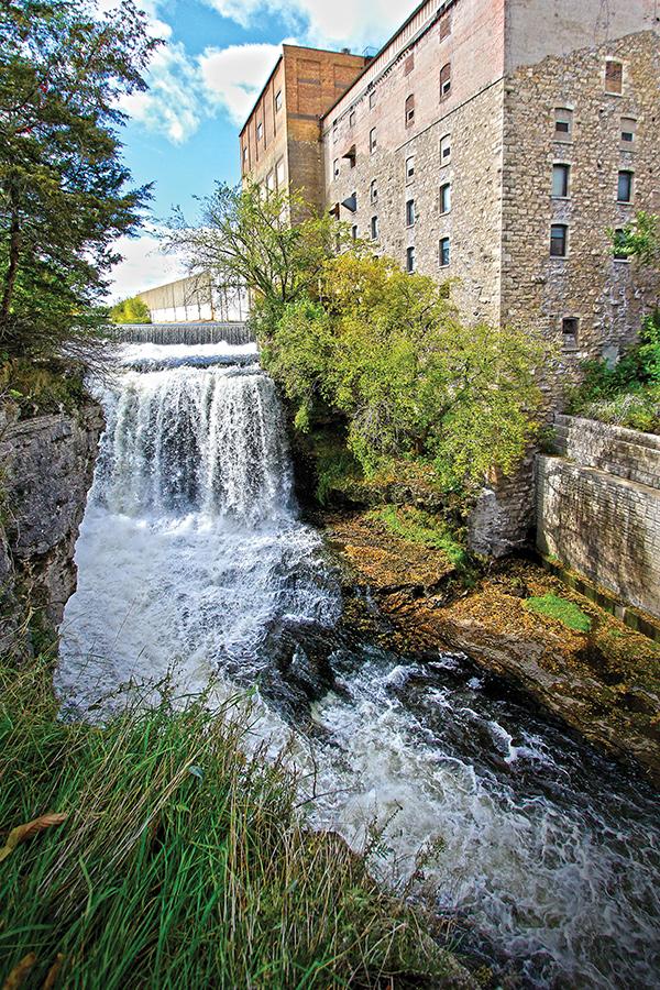 Vermillion Falls in Hastings, Minnesota.