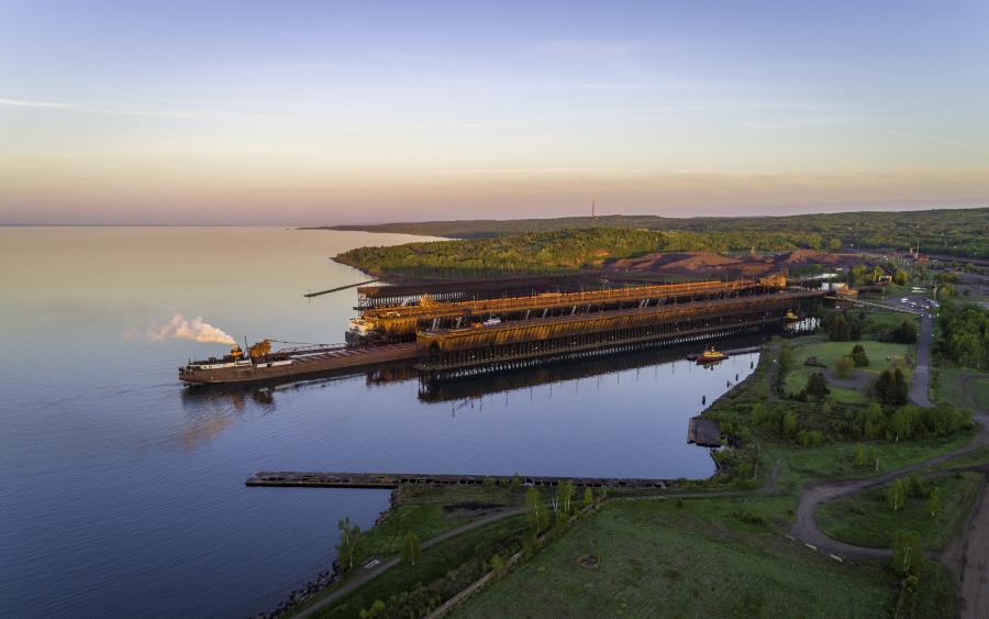 The majestic docks in Agate Bay in Two Harbors, Minnesota.