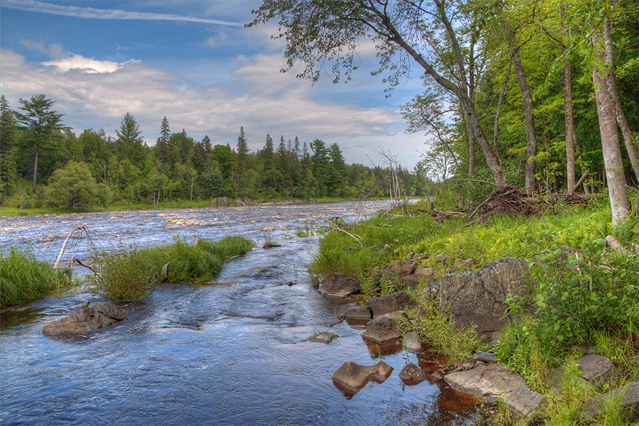 The St. Louis River at Jay Cooke State Park.