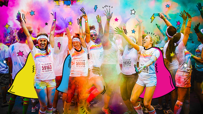 Photo of The Color Run.